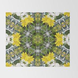 Kaleidoscope of showy St Johns Wort Throw Blanket
