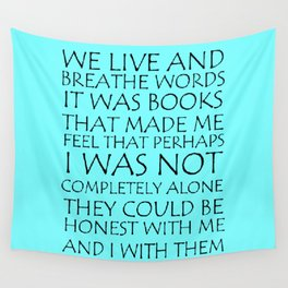 We Live And Breathe Words Wall Tapestry