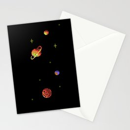 SATURN AND ASTEROIDS Stationery Cards