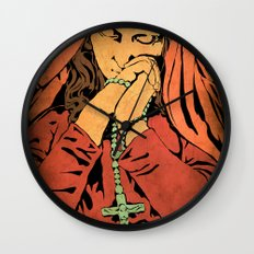 Virgin Mary (In color) Wall Clock