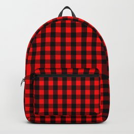 Mini Red and Black Buffalo Check Plaid Tartan Backpack