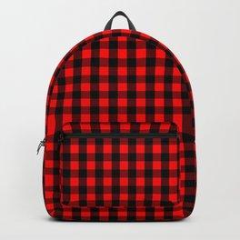Mini Red and Black Buffalo Check Plaid Tartan Backpack