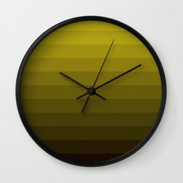 Olive striped Wall Clock