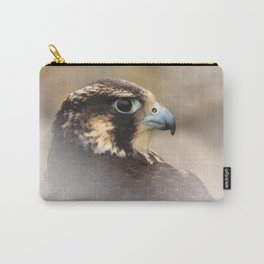 Vignetted Profile of a Peregrine Falcon Carry-All Pouch