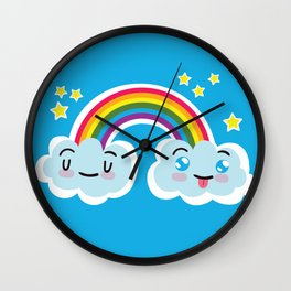 Happy Sappy Rainbow Wall Clock