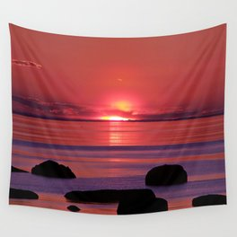 Sunset Ripples Wall Tapestry