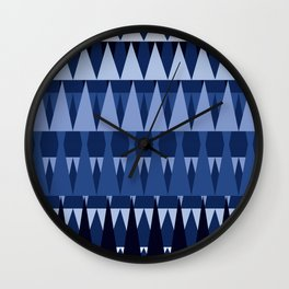 A Forest Pattern in Sea Blues Wall Clock
