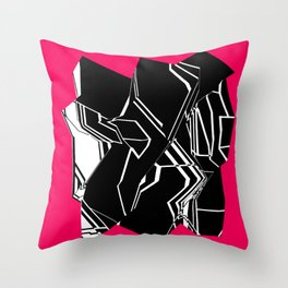 Black and White Geode Throw Pillow