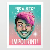 markiplier Art Prints featuring Markiplier - You Are Important by thetinytaco