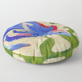 A Swim by the Seaweed Floor Pillow