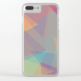 Color cones Clear iPhone Case