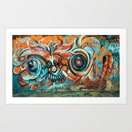 Chaotic Graffiti, Graffiti Print Art Print