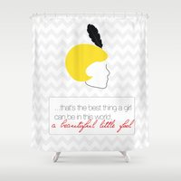 gatsby Shower Curtains featuring The Great Gatsby Daisy by raeuberstochter