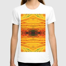 Orange Firethorn Quad IV by Chris Sparks T-shirt