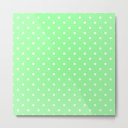 White Dots on Chrysoprase Metal Print