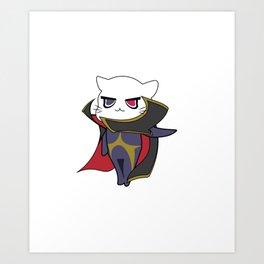 Lelouch vi Meowtannia - Code Geass Art Print