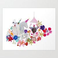Unicorns gone wild! Art Print