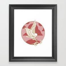 Hawk & Serpent Framed Art Print