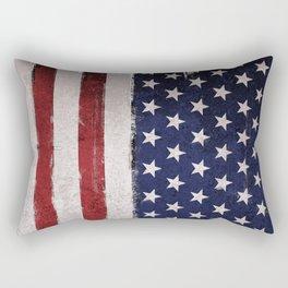American flag Vintage Grunge Rectangular Pillow
