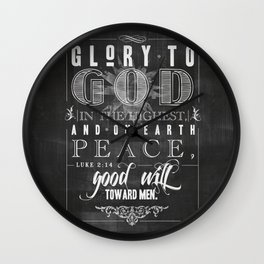 Glory To God In The Highest Wall Clock