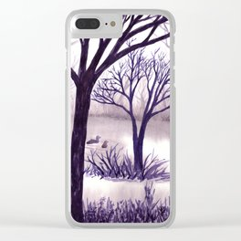 One Misty Morning... Clear iPhone Case