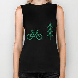Pattern: fir tree and bike Biker Tank