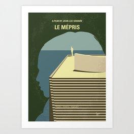 No1098 My Le mepris minimal movie poster Art Print