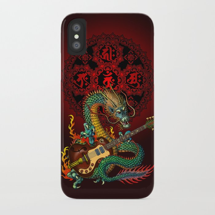 Dragon guitar 1 iPhone Case