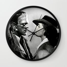 FRANKENSTEIN IN CASABLANCA Wall Clock