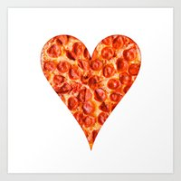 pizza Art Prints featuring PIZZA by Good Sense