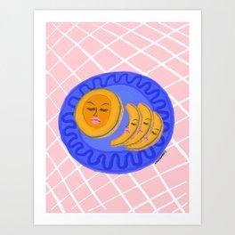 Cantaloupe Dish Art Print