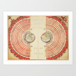 Model of the Universe by Bartolomeu Velho, 1568 Art Print