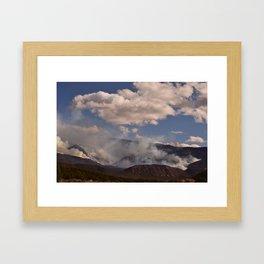 Cedar City Forest Fire - I Framed Art Print