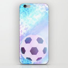 Flying football iPhone Skin