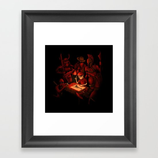 Draw Your Weapon Framed Art Print