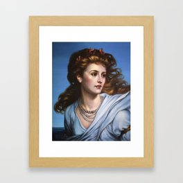 Miranda - reproduction painting by Frank Dicksee Framed Art Print