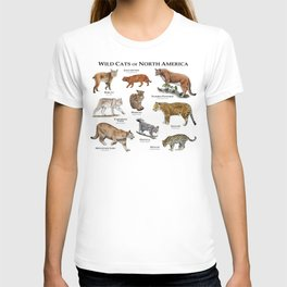 Wildcats of North America T-shirt
