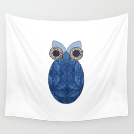 The Denim Owl Wall Tapestry