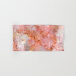Beautiful & Dreamy Rose Gold Marble Hand & Bath Towel