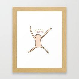 Honest Blob - Butts Framed Art Print