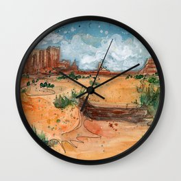 Wild West Wall Clock
