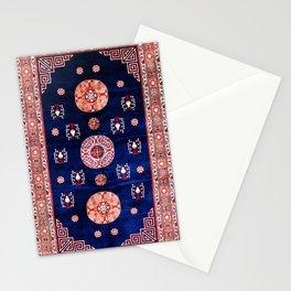 Khotan East Turkestan Floral Rug Print Stationery Cards