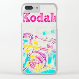 Psychedelic Kodak Clear iPhone Case