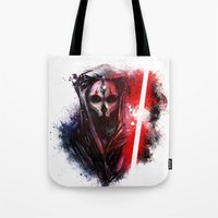 darth Tote Bags featuring Darth Nihilus by Vincent Vernacatola