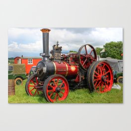 Evedon Lad traction engine Canvas Print