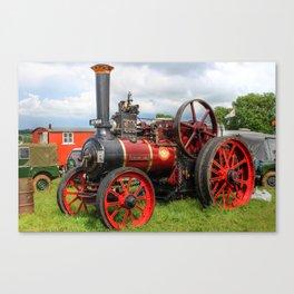 Evedon Lad traction engine Canvas Print