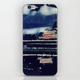 Denim love iPhone Skin