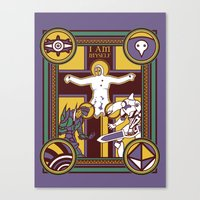 evangelion Canvas Prints featuring Illuminated Evangelion by C. A. Neal