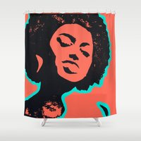 afro Shower Curtains featuring Afro Love by Bree Stillwell Craft