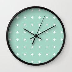 Mint Cross // Mint Plus ///www.pencilmeinstationery.com Wall Clock